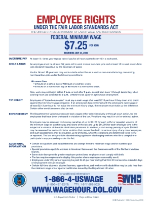Employment Posters - Federal Minimum Wage